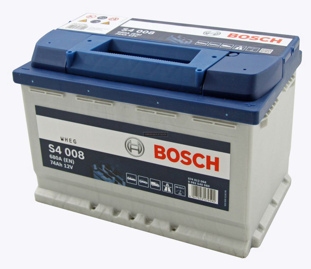 bosch akkumul tor 12v 74ah s4 jobb aut motor. Black Bedroom Furniture Sets. Home Design Ideas
