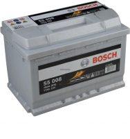Bosch S5 autó akkumulátor 12V 77Ah jobb+
