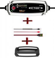 CTEK MXS 5.0 akkumulátor töltő + Led csatlakozó+Gumiköpeny