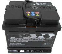 GrandPrix 12V 45Ah jobb+ autó akkumulátor