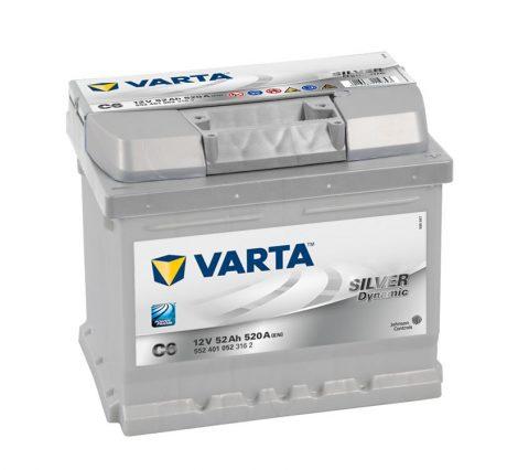 Varta Silver Dynamic 12V 52Ah jobb+