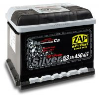 Zap Silver 12V 53Ah jobb+ akkumulátor