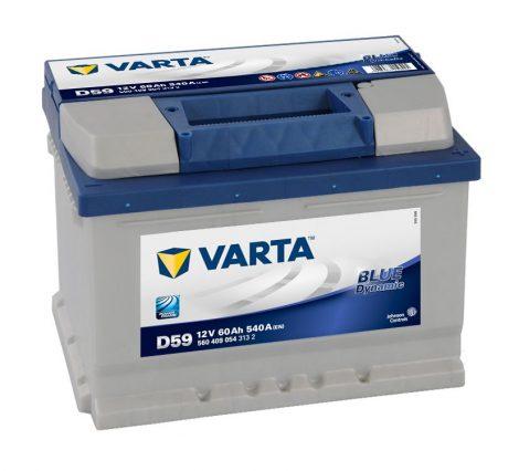 12V 60Ah autó akkumulátor Varta Blue Dynamic jobb+