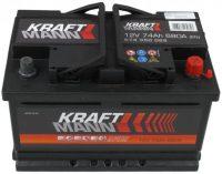Kraftmann 12V 74Ah jobb+ akkumulátor