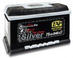 Zap Silver 12V 75Ah jobb+ akkumulátor