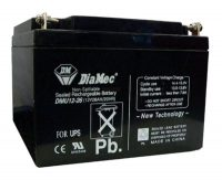 Zselés akkumulátor 12V 26Ah UPS Diamec