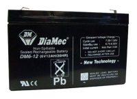 Zselés akkumulátor 6V 12Ah Diamec