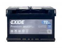 12V 72Ah autó akkumulátor Exide Inditó áram 720A