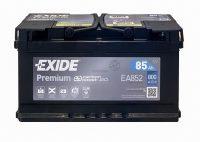 Exide Premium 12V 85Ah jobb+ 800A