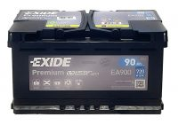 12V 90Ah autó akkumulátor Exide 315X175X190