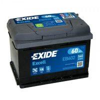 Exide Excell 12V 60Ah jobb+ autó akkumulátor EB602