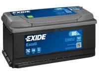 Exide Excell 12V 85Ah jobb+ autó akkumulátor