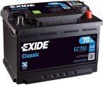 Exide Classic autó akkumulátor 12V 70Ah jobb+ EC700