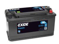 Exide Classic autó akkumulátor 12V 90Ah jobb+ EC900