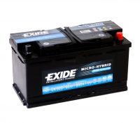 Exide AGM 12V 92Ah Start-Stop akkumulátor jobb+ EK920