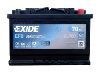 Exide 12V 70Ah Start-Stop akkumulátor EFB jobb+ EL700