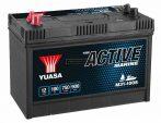 Yuasa munka akkumulátor 12V 100Ah bal+ dupla kivezetés