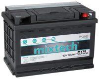 Mixtech 12V 78Ah jobb+ autó akkumulátor
