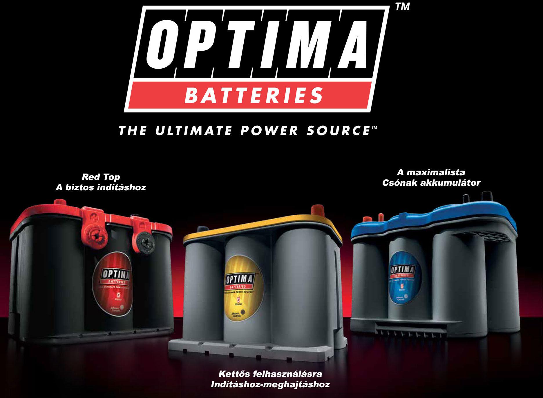 Optima akkumulátor típusok-Red-Yellow-Blue