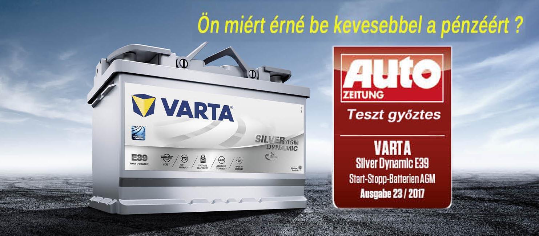 Varta akkumulátor - Teszt győztes