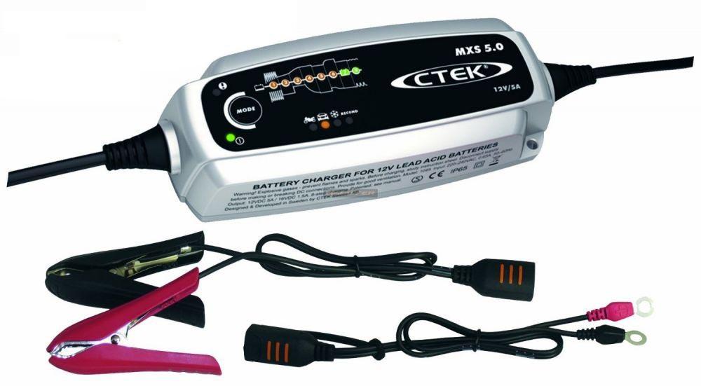 CTEK MXS 5.0 tovább fejlesztett autó akkumulátor töltő