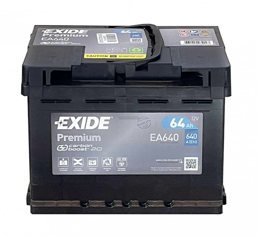 Exide Premium 12V 64Ah jobb+ autó akkumulátor EA640
