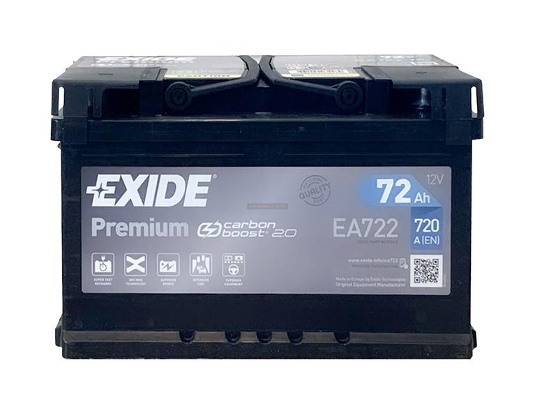 Exide Premium 12V 72Ah jobb+ EA722